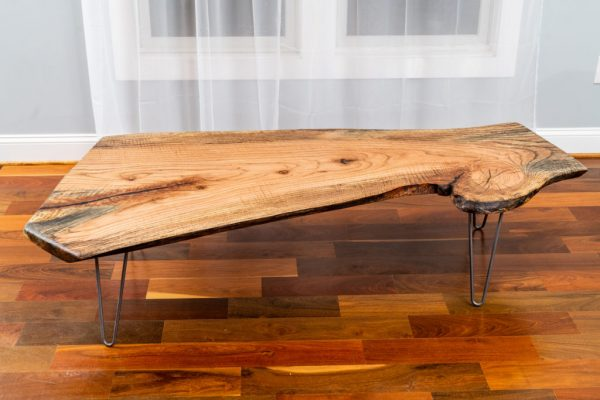 Spalted Red Oak coffee table on display