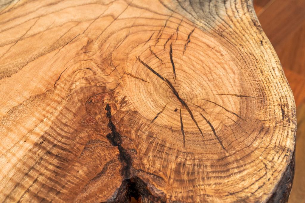 close up of wood slab