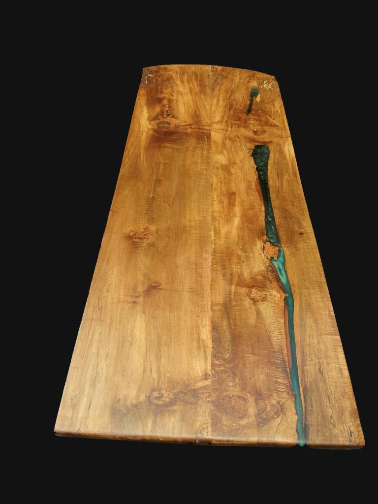 full image of finished wood slab table