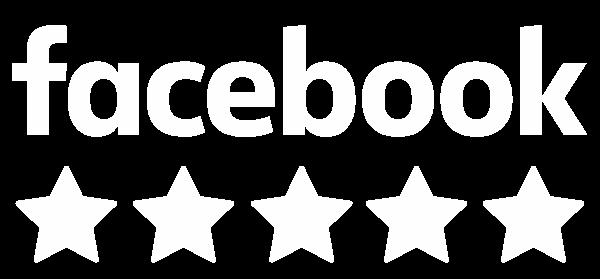 facebook five stars logo white